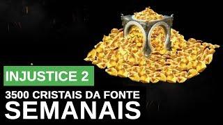 INJUSTICE 2: COMO GANHAR CRISTAIS DA FONTE. 3500 CRISTAIS DA FONTE POR SEMANA NO #injustice2