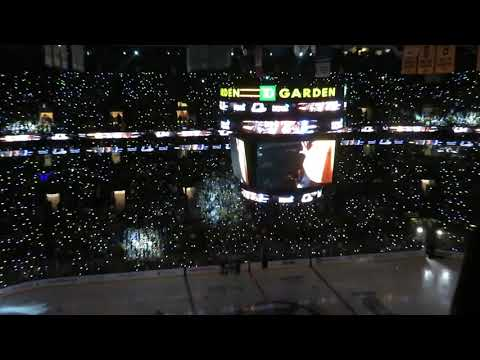 Boston Bruins Game 1 2019 Stanley Cup Finals Pre-Game Anthem Light show with LED Wristbands |