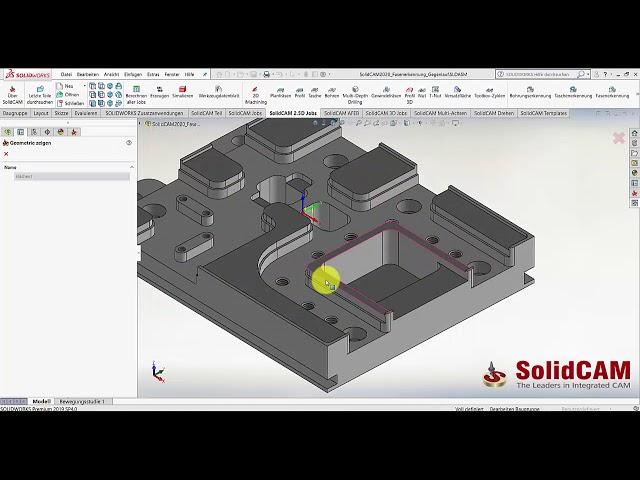 SolidCAM 2020 – Fasenerkennung Gegenlauffräsen