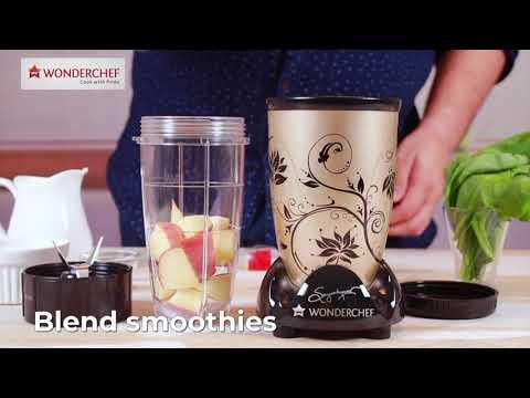 Wonderchef Nutri Blend CKM Champagne | Mixer, Grinder, Blender, Juicer & Chopper All In 1
