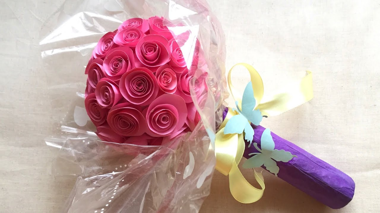 How To Make Paper Flower Bouquet Handmade Paper Bouquet Easy Step By Step