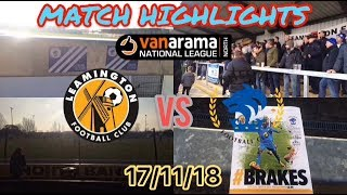 LEAMINGTON 1-0 CHESTER FC MATCH HIGHLIGHTS: VANARAMA NATIONAL LEAGUE NORTH: 17/11/18