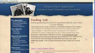 Ulysses S. Grant Collection Database Tutorial - Mississippi State University Libraries.