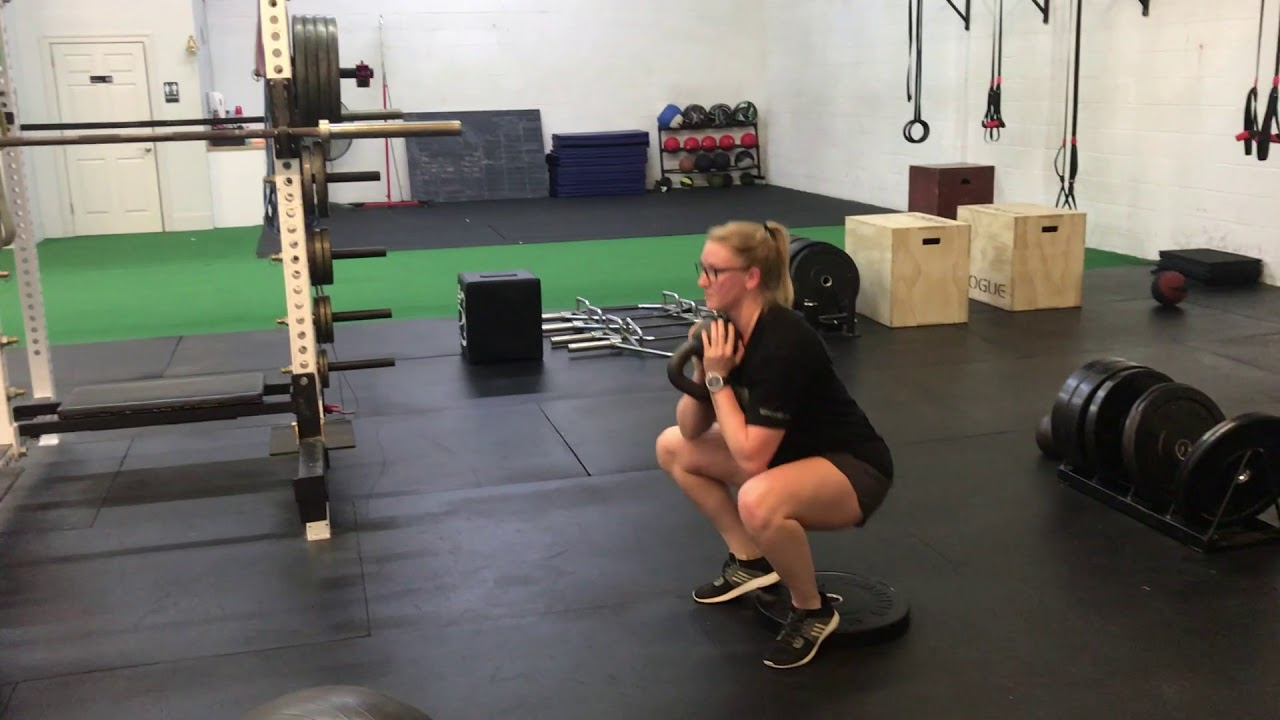 495ca8572ef9 Heels Elevated Goblet Squat - YouTube