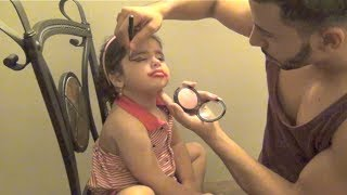 UNCLE DOES BABY NIECES MAKEUP!