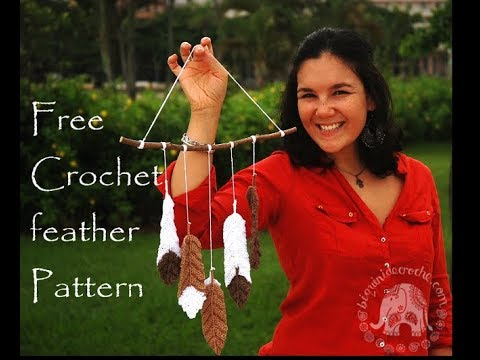 Free Crochet Feather Pattern Roseanna Murray Youtube