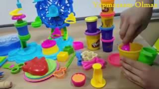 Play Doh Kek - Kurabiye - Dondurma ve Pasta Fabrikası - Play Doh Eğlenceli Üretimhane