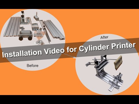 The Installation Video For  Cylinder Screen Printing Machine