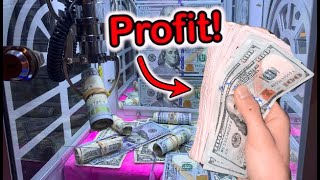 MADE SO MUCH MONEY FROM MINI CASH CLAW MACHINE!| JOYSTICK