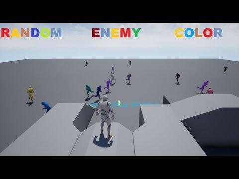 Random Enemy Color Blueprint – Unreal Engine 4 – InterFox-Smart