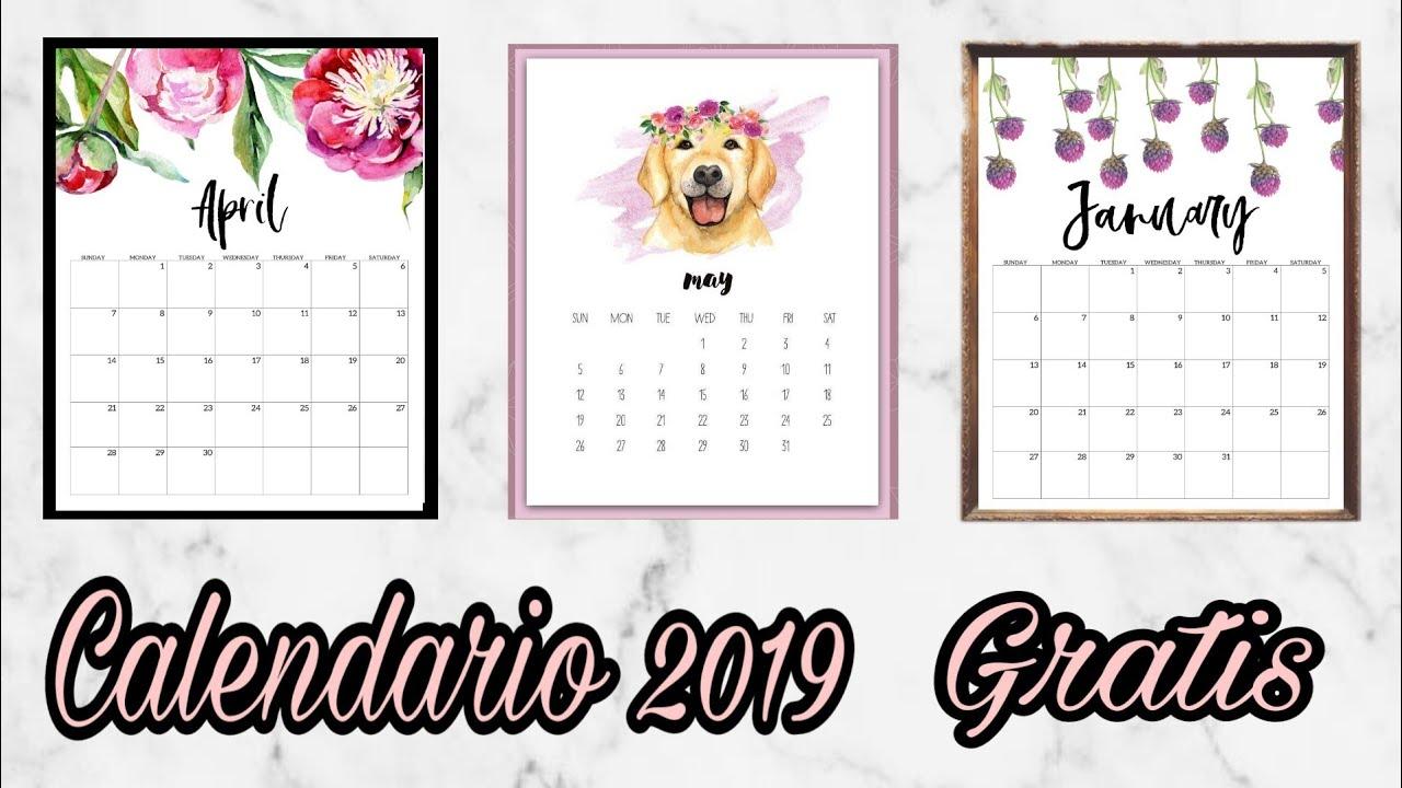 Calendario Agenda 2020 Para Imprimir.Calendario Agenda 2019 Para Imprimir Gratis 5 Disenos Marisol Sanchez