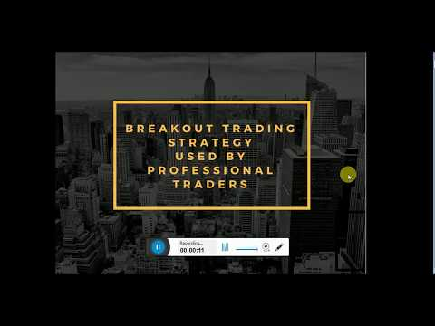 Breakout Trading Strategy Used by Professional Traders in Stock, Shares, commodity trading.