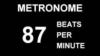 METRONOME 87 BPM (BEATS PER MINUTE)