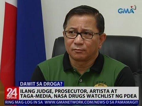 24 Oras: Ilang judge, prosecutor, artista at taga-media, nasa drugs watchlist ng PDEA