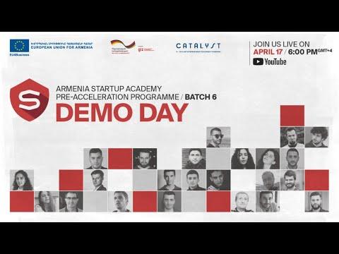 Demo Day | Armenia Startup Academy Pre-accelerator Batch 6