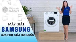 Máy giặt Samsung: cửa phụ Addwash, giặt hơi nước diệt khuẩn (WW90K52E0WW/SV)