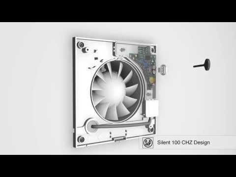 Silent 100 CHZ Design вентилятор с таймером и гидростатом   простая установка