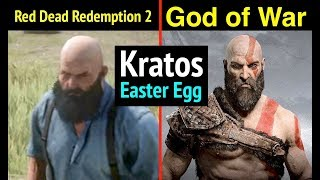 Kratos in Red Dead Redemption 2 (God of War Easter Egg in RDR2)