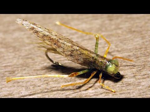 Grasshopper fly tying instructions by Ruben Martin