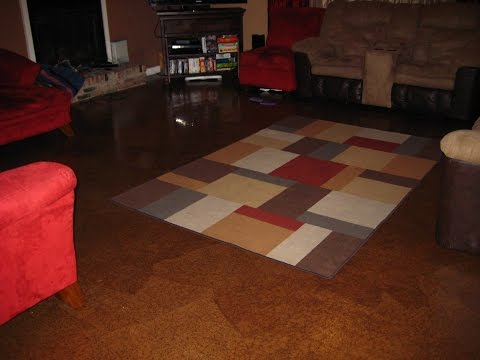 DIY - How to make your own brown paper bag floor