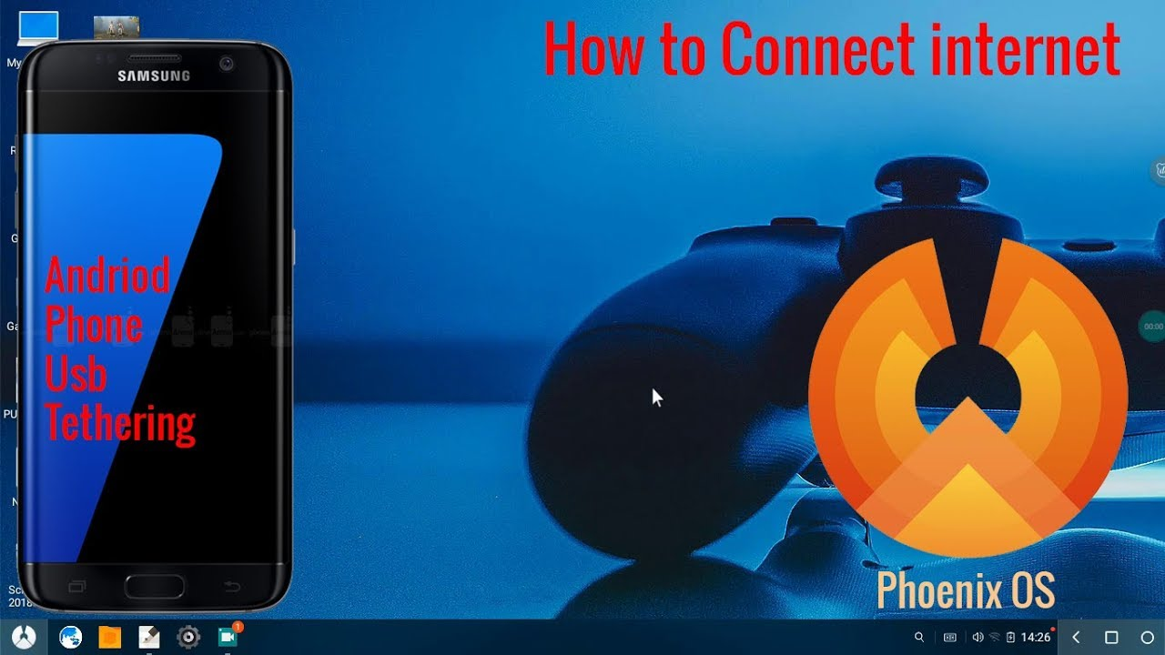 How to connect internet on Phoenix OS via Android phone USB Tethering