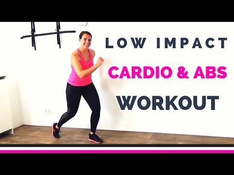 40 Minute Low Impact Workout for Bad Knees – Cardio and Abs Exercises to Lose Belly Fat – No Jumping