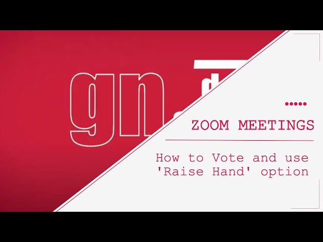 Zoom meetings - how to Vote and use Raise Hand option