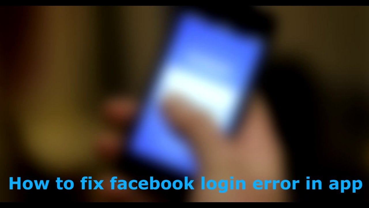 How To Fix Facebook Application Login Error in Any iPhone or Ipad