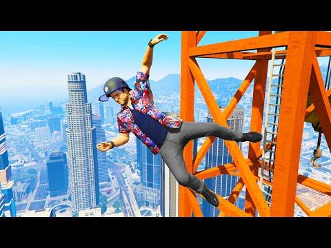 GTA 5 Funny/Crazy Jump Compilation #5 (GTA V Fails Funny Moments)