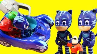PJ Masks Transforming Headquarters Toy With Romeo's Lab Playset