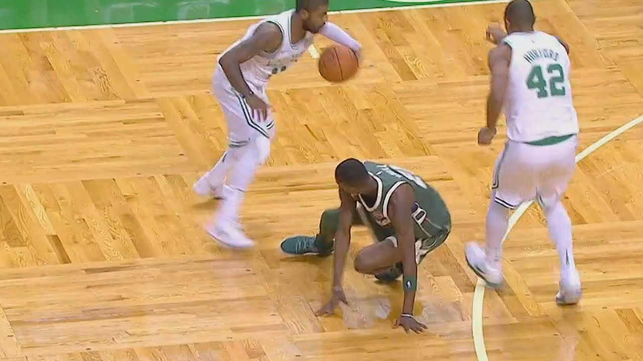 Image result for kyrie irving breaking ankles 2018