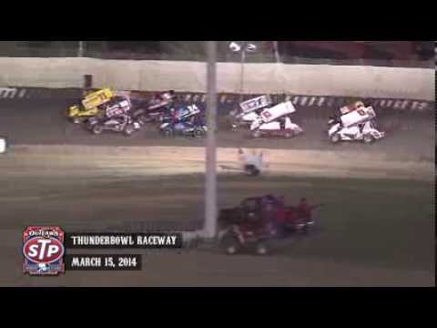 Highlights: World of Outlaws STP Sprint Cars Thunderbowl Raceway March 15th, 2014