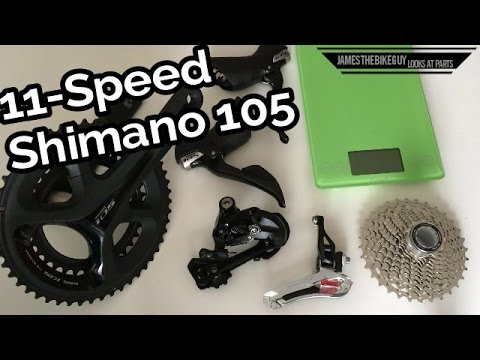 46bb11a55cc Shimano 105 5800 Road Bike Groupset Review and Actual Weights - YouTube