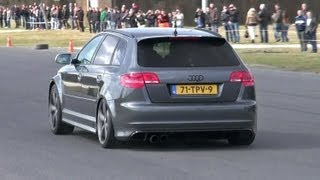 Audi RS3 Sportback w/ Milltek Non Resonated Catback Exhaust - Launch control!
