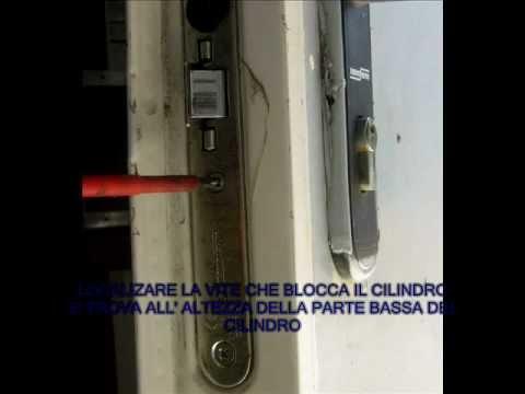 Come cambiare un cilindro di una serratura youtube - Come cambiare serratura porta interna ...