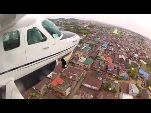 Landing in Samarinda - Susi Air Cessna Grand Caravan C208B