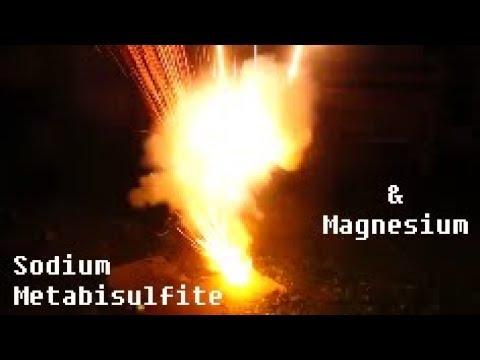 Reaction Of Sodium Metabisuflite And Magnesium