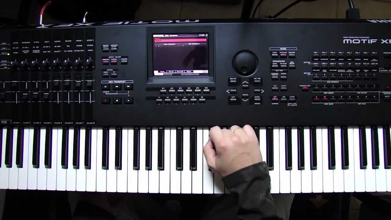tutorial yamaha motif xf e xs voices e performs