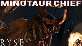 Ryse Son of Rome - Minotaur Chief Glott Boss Gameplay (XBOX ONE)