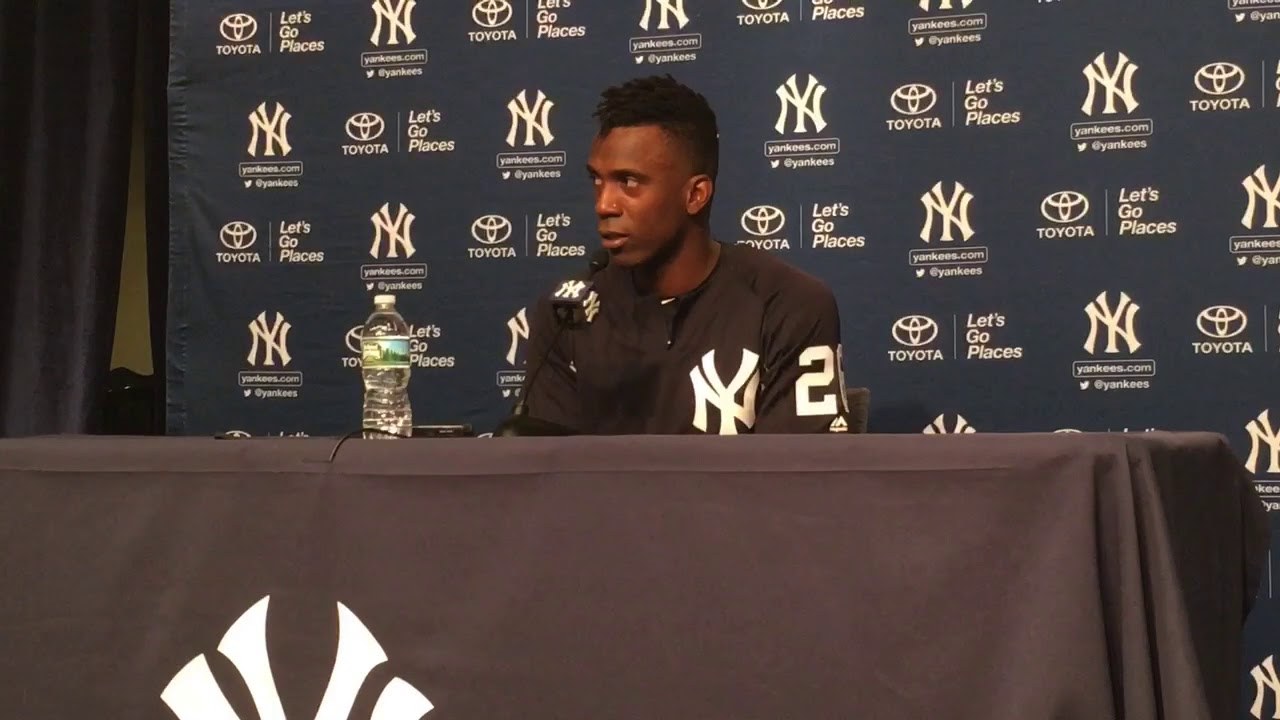 Andrew McCutchen talks after trade to Yankees - YouTube 241a77e9555