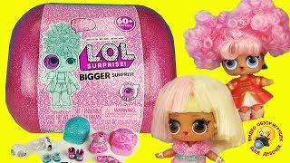 МЕГА ЛОЛ 60 СЮРПРИЗОВ Распаковка Новая семейка КУКОЛ Обзор игрушек BIGGER LOL Surprise Toys Dolls