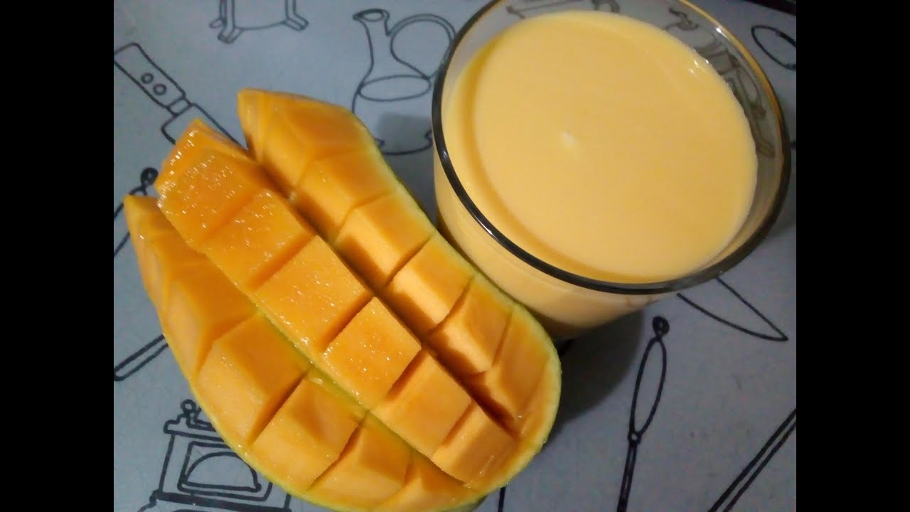 how to make mango milkshake easy- mango shake recipe in hindi- mango milkshake without ice cream