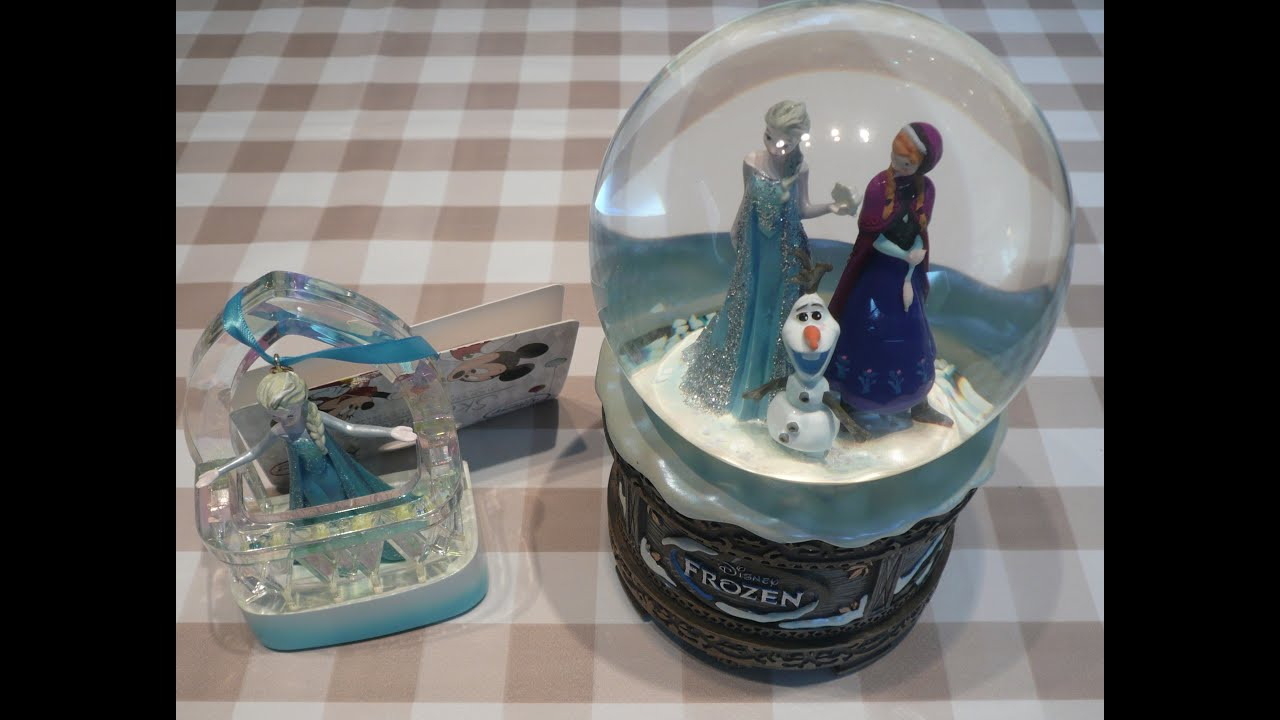 frozen elsa anna snow globe singing musical christmas holiday tree ornament decoration disney store youtube - Frozen Christmas Tree Ornaments