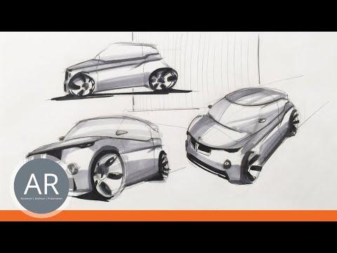 Transportationdesign – verständlich erklärt (3/3). Zeichnen lernen. Mappenkurs Transportationdesign.