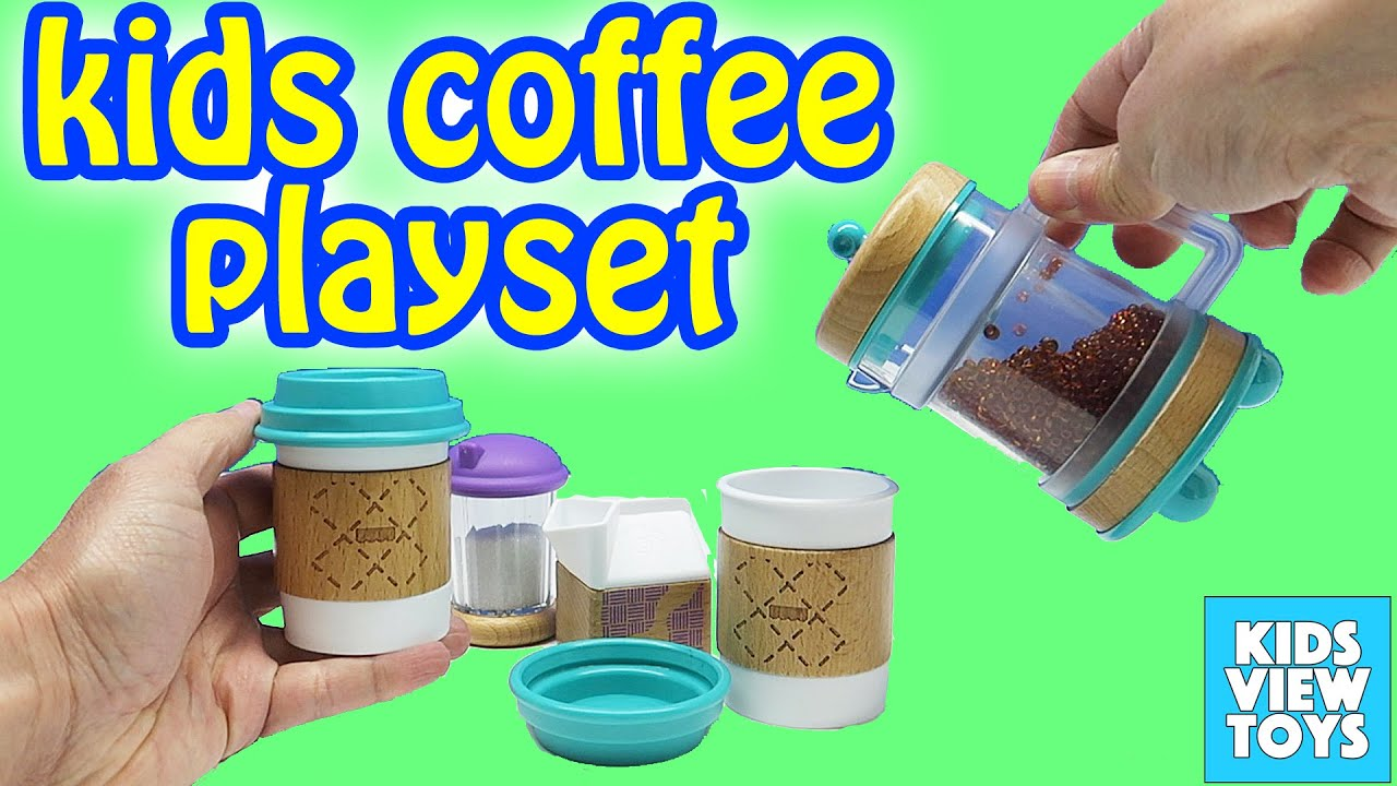 Kids Coffee Maker & Barista Set - YouTube