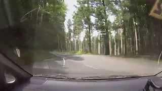 【車載】山道ドライブ2014-29 津和野の市街地に下りていく道
