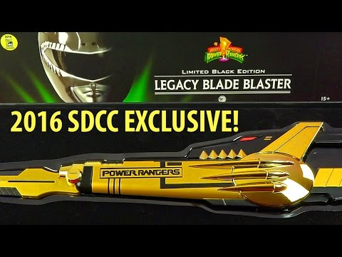 Power Rangers Black Edition Blade Blaster 2016 SDCC Exclusive!