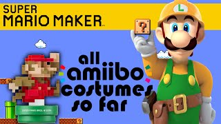 SUPER MARIO MAKER -  ALL AMIIBO COSTUMES [That are available so far]