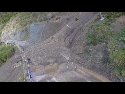Manawatū Gorge – Kerry's Wall slip, Anzac slip and other sites
