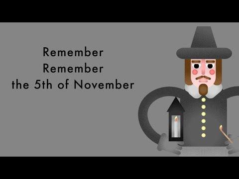 Remember Remember the 5th of November - Fireworks Night Poem
